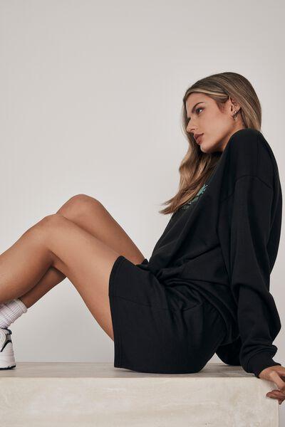 Hype Fleece Short, BLACK