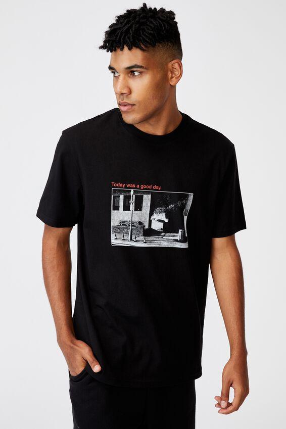 Regular Graphic T Shirt, BLACK/GOOD DAY