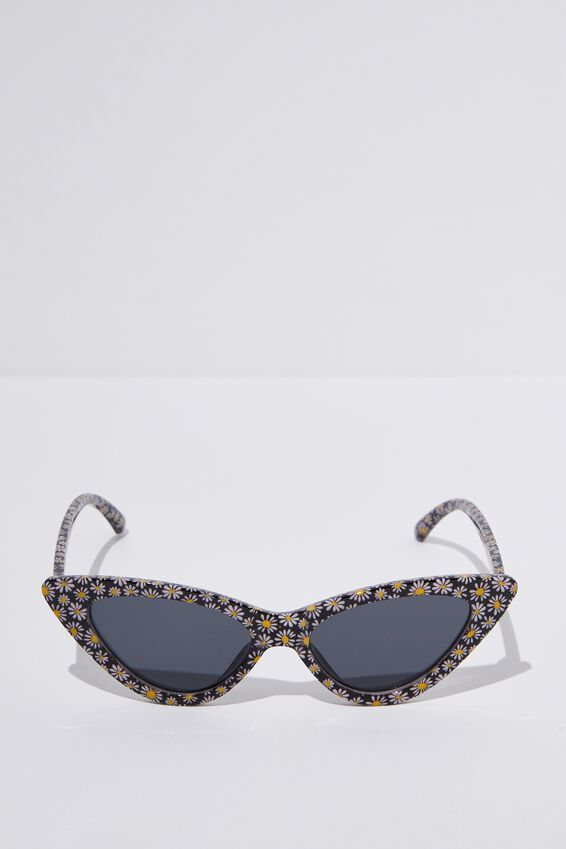 Zarah Cateye Sunglasses, S.WHT DAISY_SMK