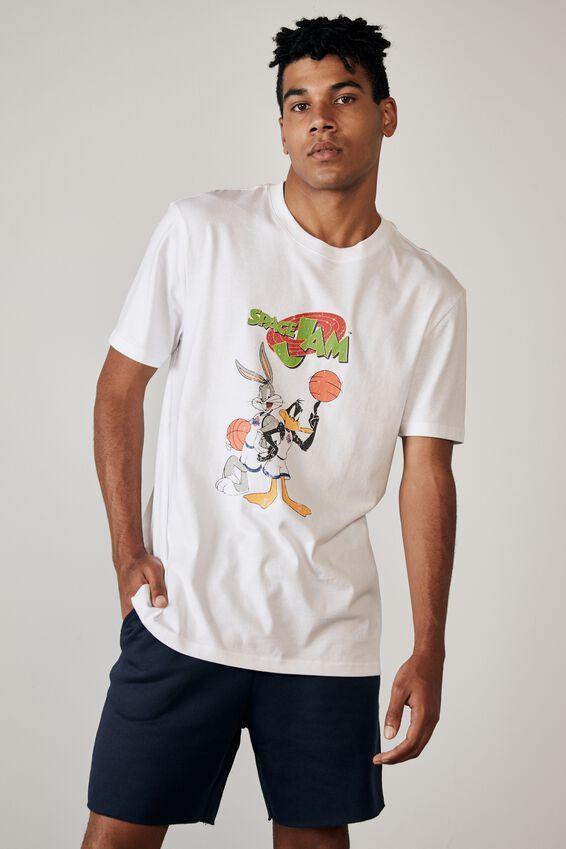 Regular Tv Movie T Shirt, LCN WB WHITE/SPACE JAM