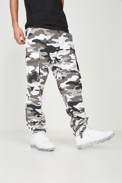 Straight Leg Cargo Pants, SNOW CAMO