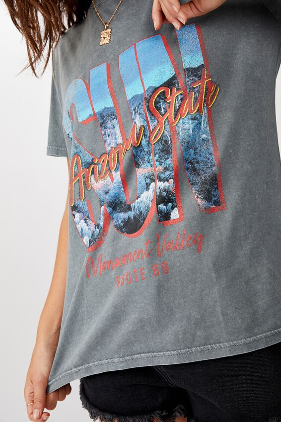 Relaxed Graphic T Shirt, ARIZONA SUN/WASHED GREY