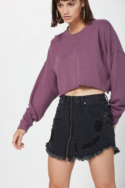 Casper Crop Sweat, WASHED GRAPE KISS