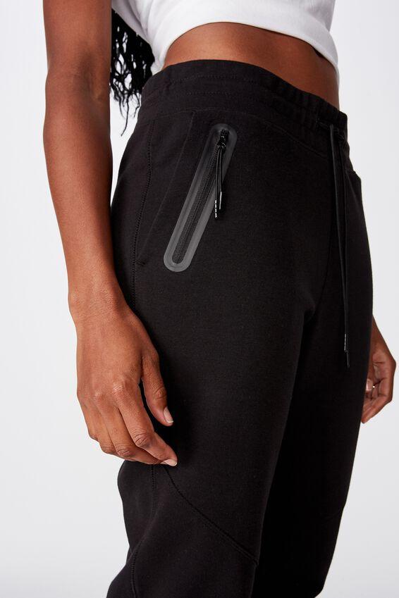 Tech Slim Track Pant, BLACK