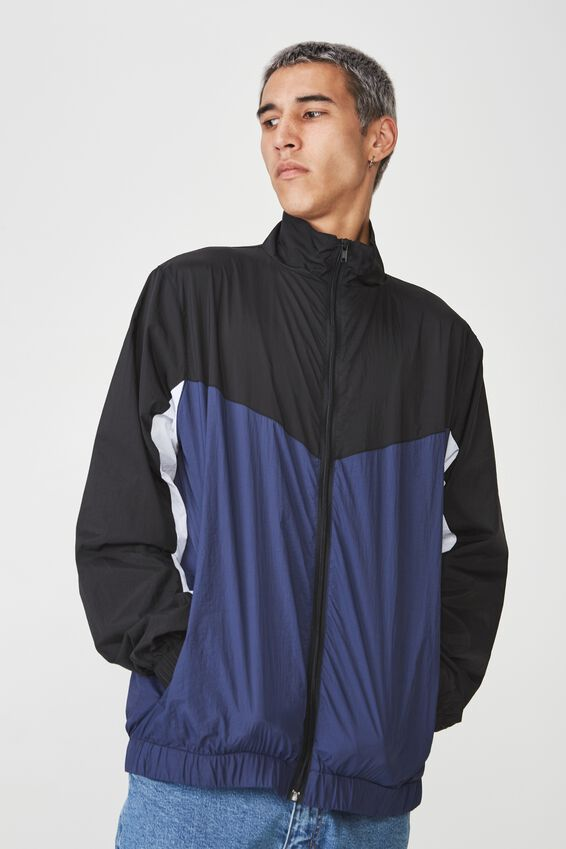 Shell Jacket, WASHED NAVY SPLICE
