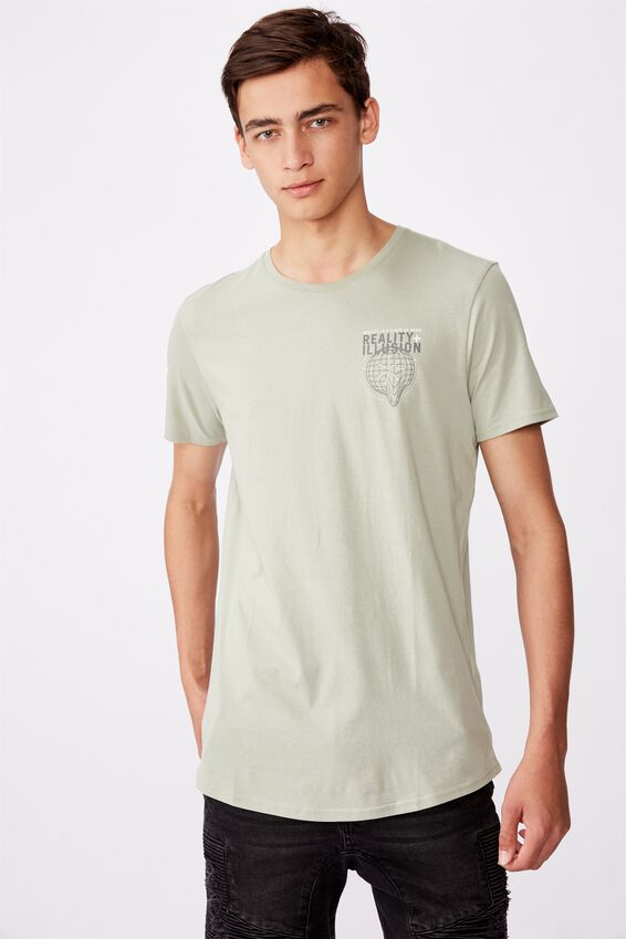 Curved Graphic T Shirt, FERN/STATE OF MIND