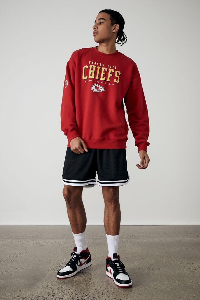 Oversized Nfl Crew, LCN NFL VINTAGE RED/CHIEFS