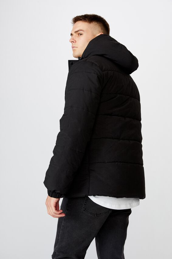 Hooded Puffer, BLACK