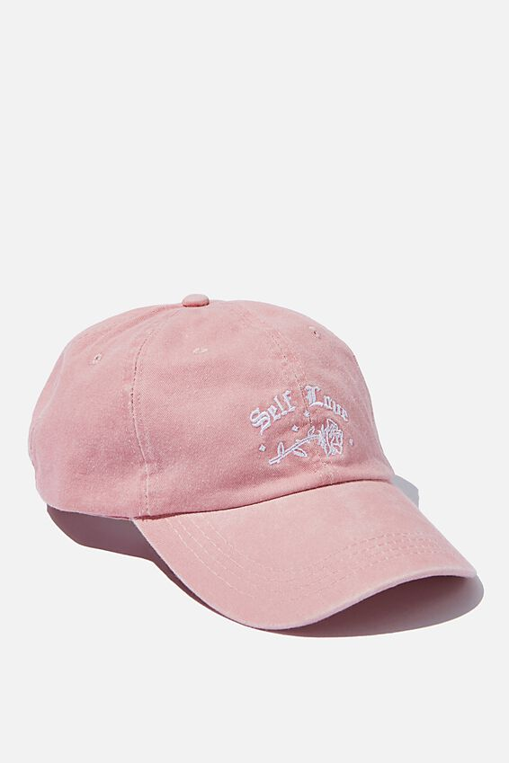 Classic Baseball Cap, SELF LOVE PINK