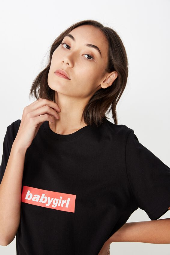 Relaxed Graphic T Shirt, BLACK_BABY GIRL