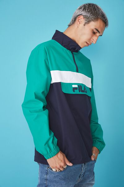 Fila Lcn Qtr Zip Jacket, NAVY/WHITE/GREEN