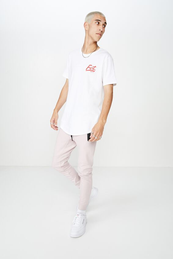 Curved Graphic T Shirt, WHITE_WE R FCT