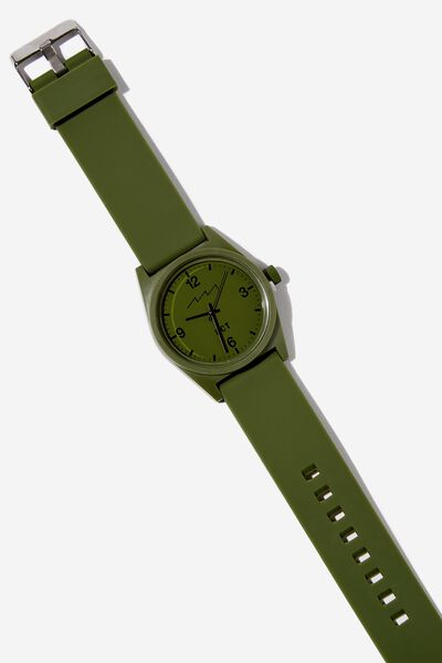 Silicone Watch, KHAKI