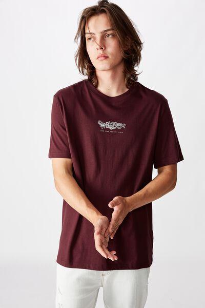 Regular Graphic T Shirt, MAHOGANY/ENEMIES