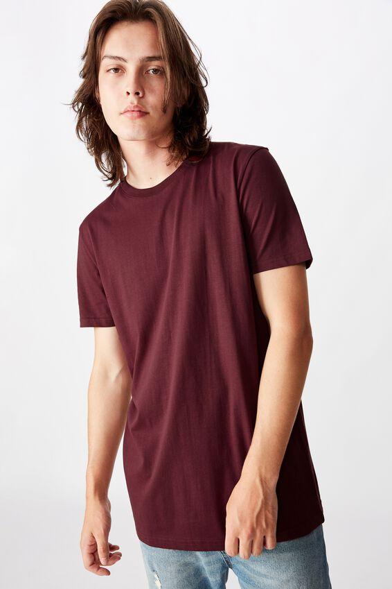 Slim T Shirt, MAHOGANY