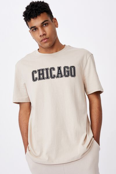 Regular Graphic T Shirt, BEIGE/CHICAGO