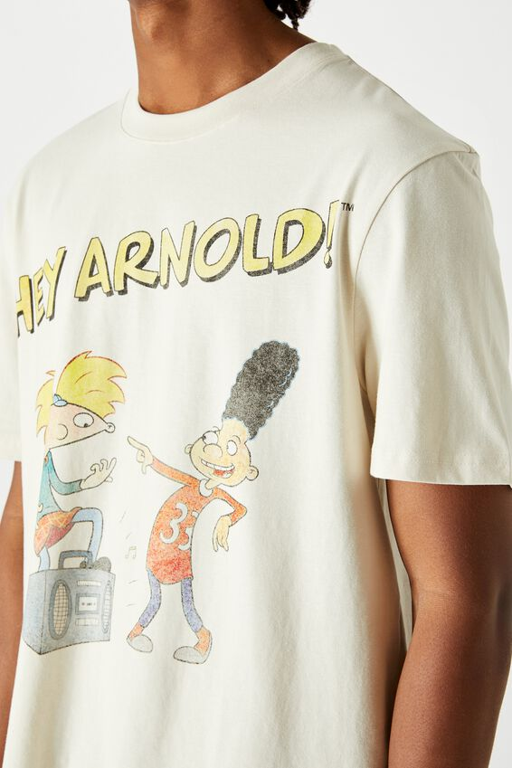 Regular License T Shirt, IVORY HEY ARNOLD