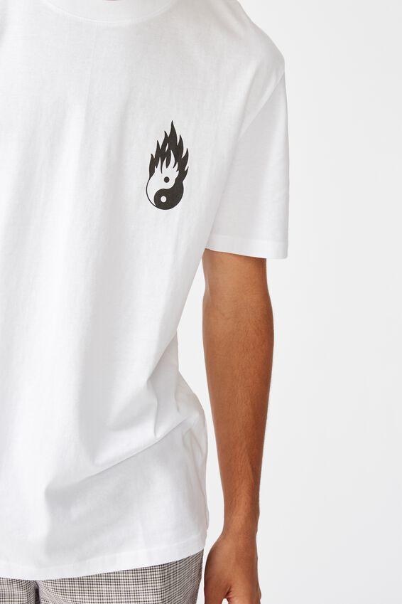 Regular Graphic T Shirt, WHITE/MASH UP