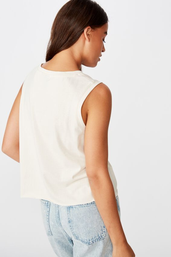 Graphic Tank, WASHED IVORY/RECKLESS