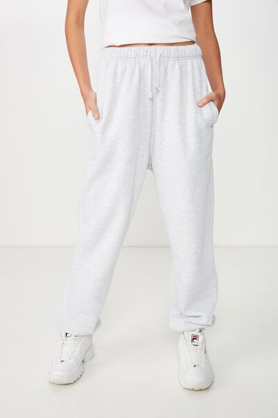 Slouchy Washed Trackpant, SILVER MARLE