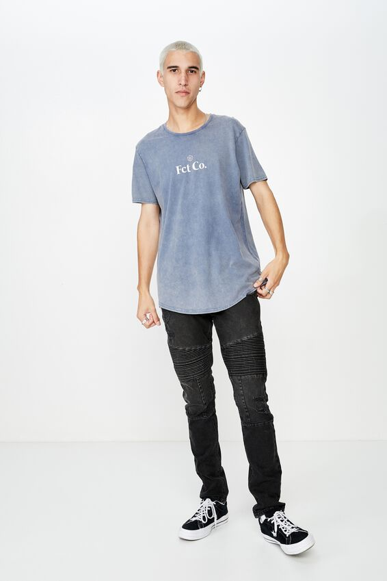 Curved Graphic T Shirt, VINTAGE INDIGO_FCT CO
