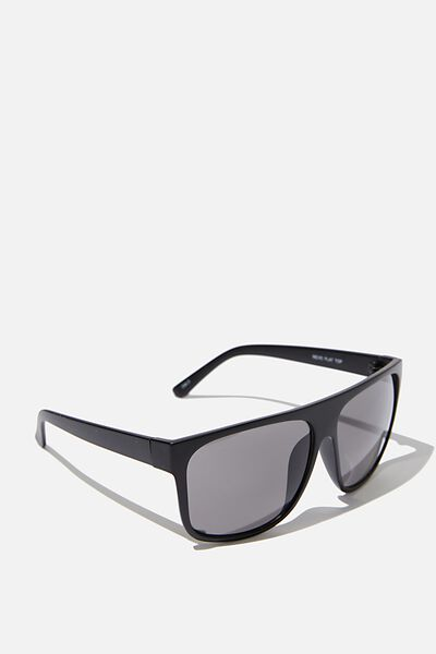 Revo Flat Top Sunglasses, M.BLK_SMK