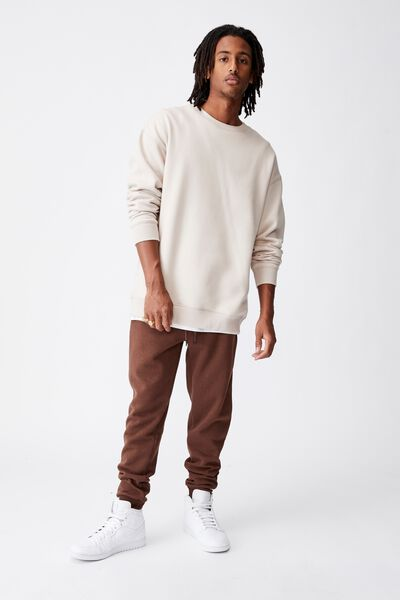 Basic Track Pant, CHOCOLATE