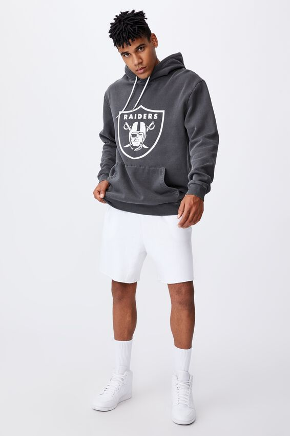 Oversized Nfl Hoodie, LCN NFL WASHED BLACK/RAIDERS