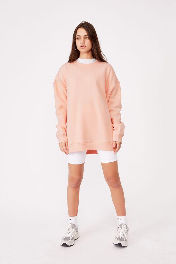 Oversized Crew Neck Sweater, VINTAGE SEASHELL