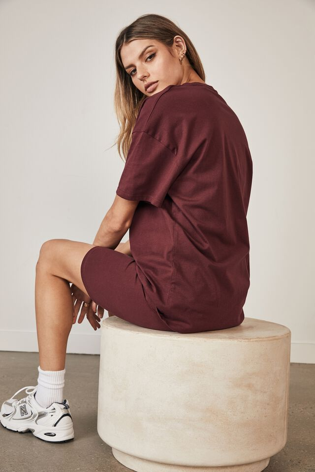 Super Relaxed Graphic Tee, WINDSOR WINE/YACHT CLUB