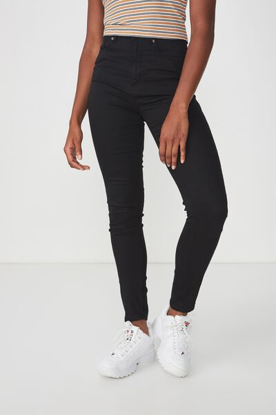 The Skinny High Rise Jean, BLACK