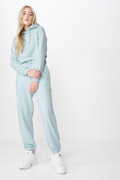 Slouchy Washed Trackpant, BLUE GLOW
