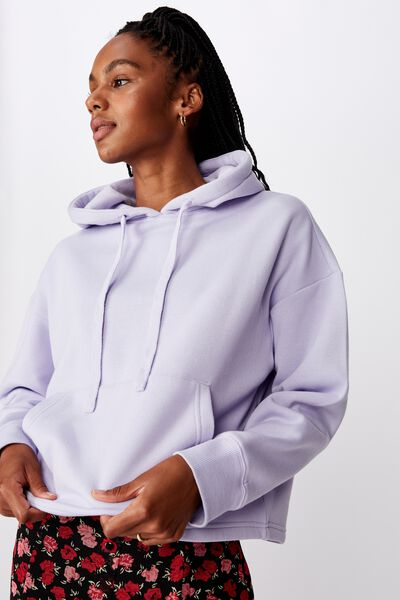 Relaxed Hoodie, PURPLE HEATHER