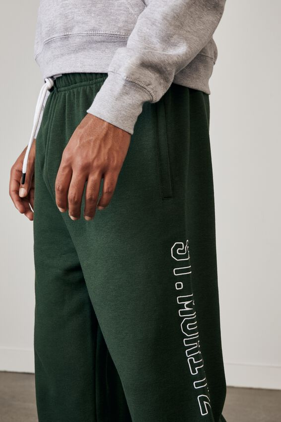 Relaxed Graphic Trackpant, DARKER PINE/ST MORITZ UNI