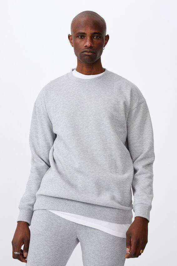 Oversized Crew, GREY MARLE