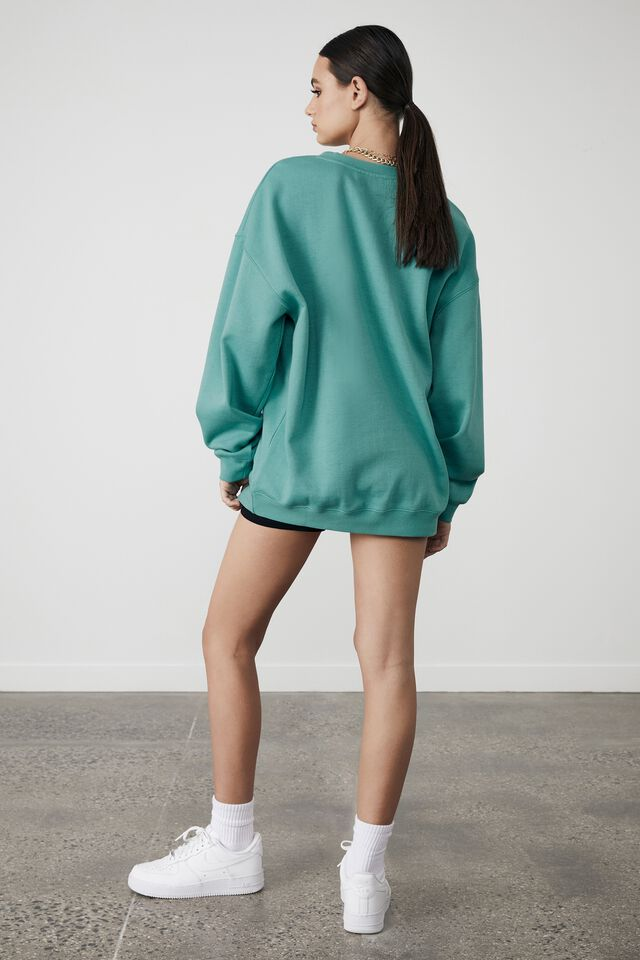 Lcn Nfl Oversized Graphic Crew, LCN NFL MIAMI GREEN/DOLPHINS