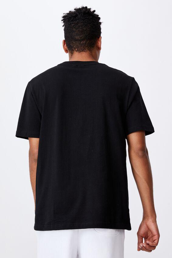 Fila Lcn College T Shirt, BLACK/FILA