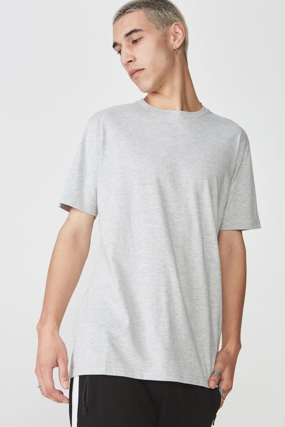 Slim T Shirt., LIGHT GREY MARLE