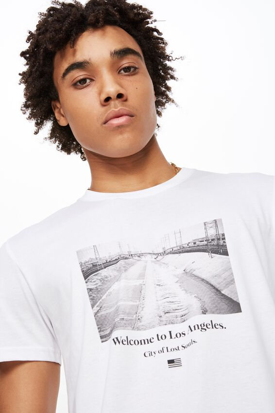Slim Graphic T Shirt, WHITE/CITY OF LOST SOULS
