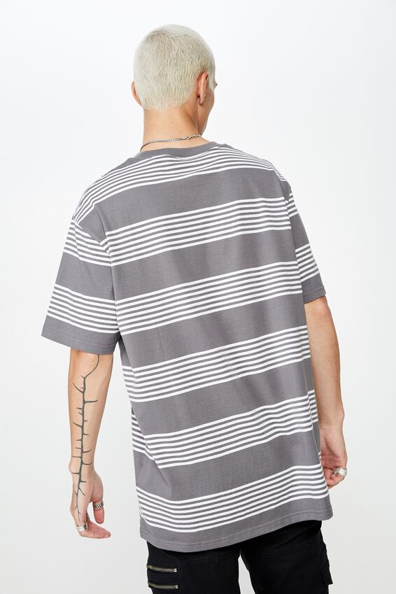 Embroidered Stripe T Shirt, TORNADO/GRILL STRIPE