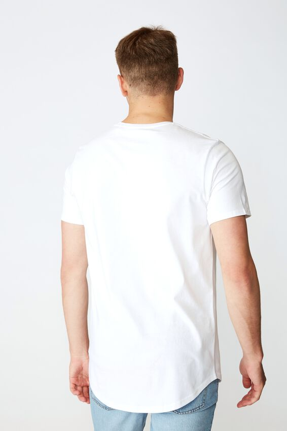 Curved Graphic T Shirt, WHITE FOREVER