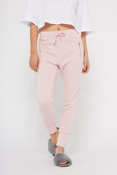 Skinny Fit Trackpant 2, CHALK PINK