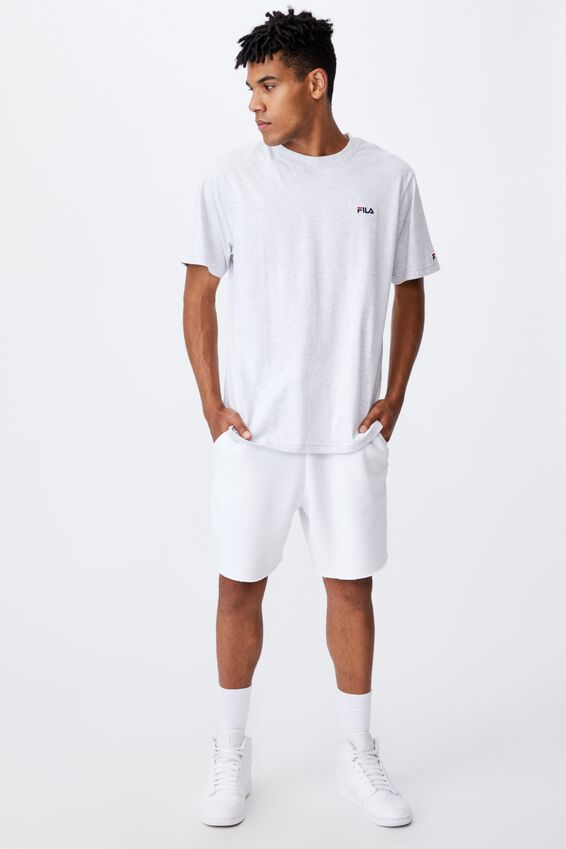 Fila Lcn Classic T Shirt, SILVER MARLE/ICON