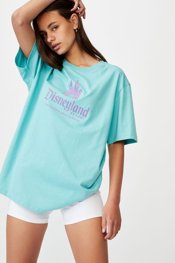 Disney License Tee, LCN DIS COOL MINT/HAPPIEST PLACE