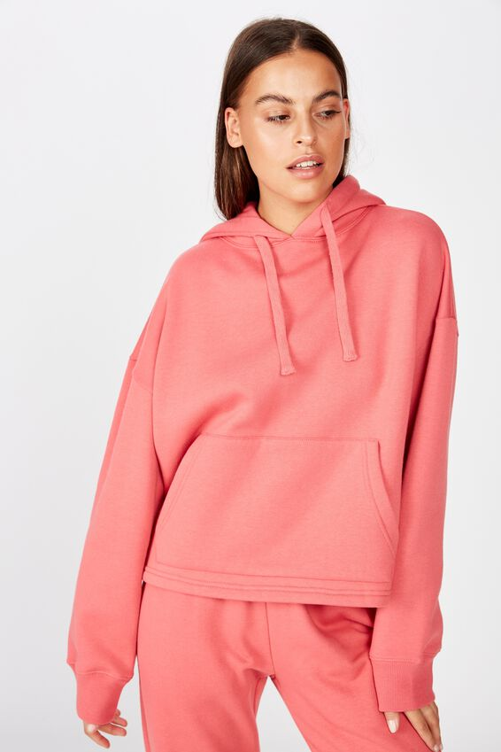 Relaxed Hoodie, VINTAGE RED