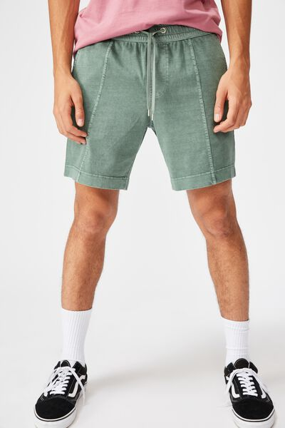 Washed Fleece Short, WASHED KHAKI
