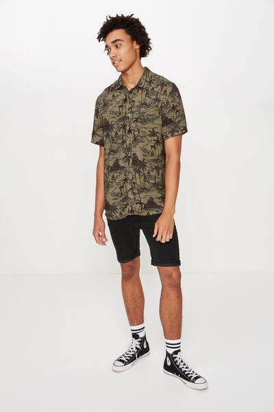 Resort Shirt, KHAKI OASIS