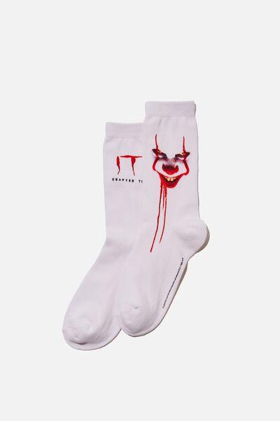 License Jersey Sock, WHITE_IT