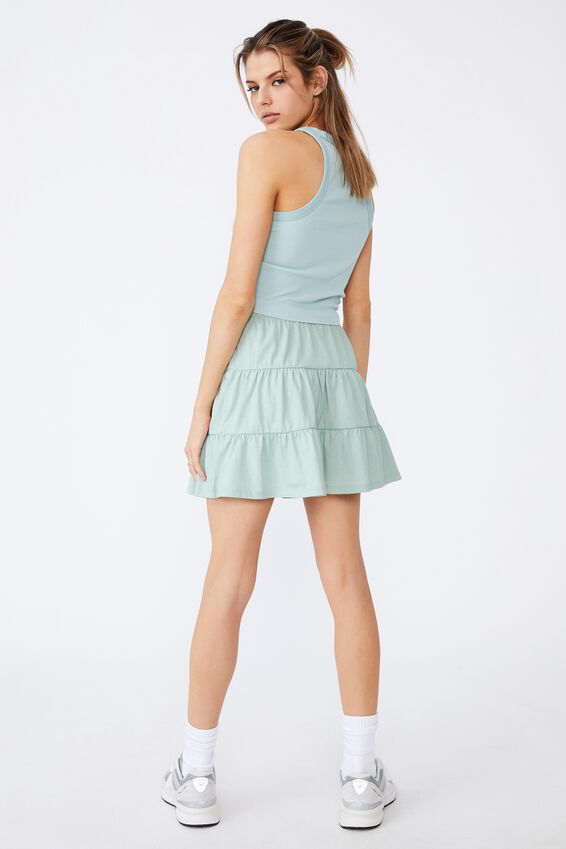 Jersey Tiered Skirt, ETHER