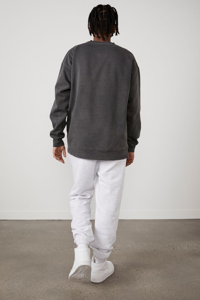 Basic Relaxed Trackpant, SILVER MARLE